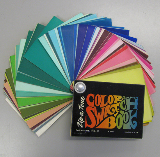 museum of forgotten art supplies zip a tone color swatch book - Color Swatch Book