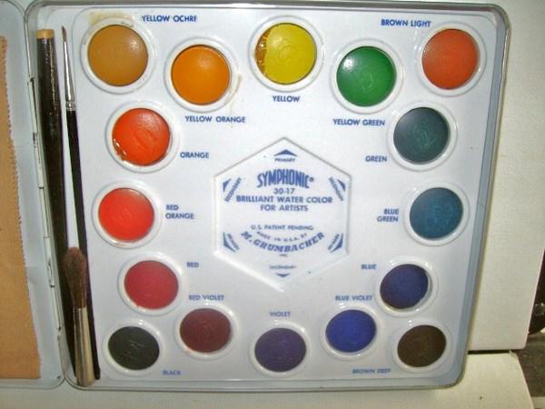 museum of forgotten art supplies grumbacher symphonic water color set